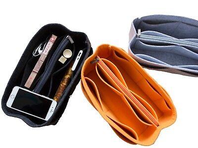 Bag Organizer Insert - LUZEE Purse Organizer Bag with Middle Zipper Fit MM Speedy 30 Purse insert