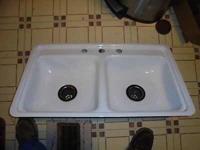 """1996 TERRY Camper Camp Trailer WHITE Double Sink 32""""L x 18""""W 4-1/2"""" DEEP"""