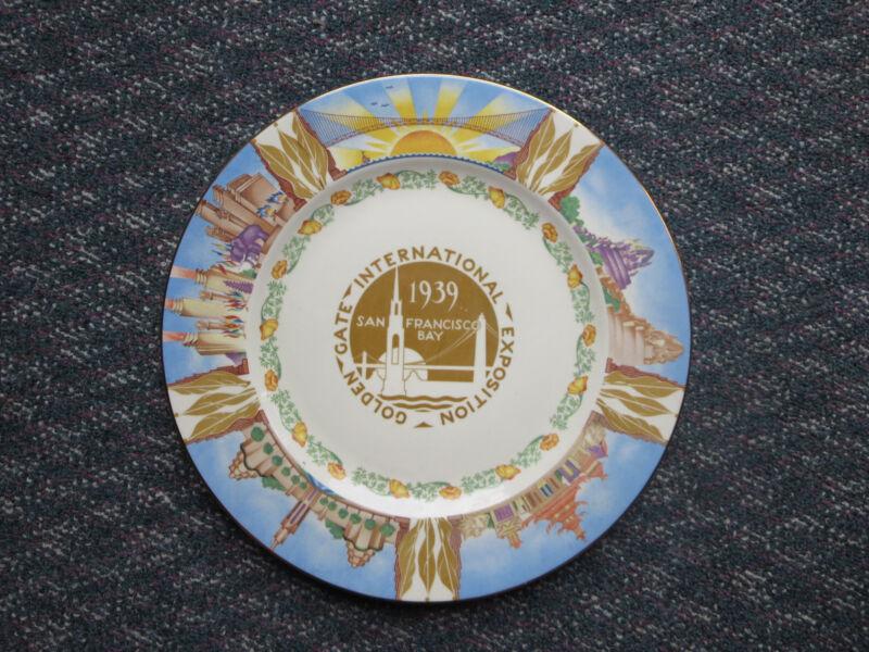 Golden Gate International Exposition 1939 Souvenir Plate  - 10 Inch Diameter