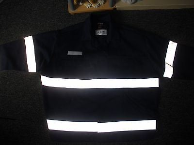 workmans industrial protective reflective gear jacket navy blue xl safety arco