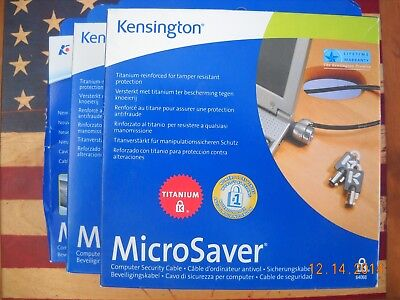 Kensington Titanium Microsaver 64068 Notebook Laptop Security Lock New In Box