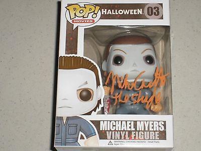 NICK CASTLE Signed Michael Myers FUNKO POP Halloween THE SHAPE BAS BECKETT - Nick Castle Halloween