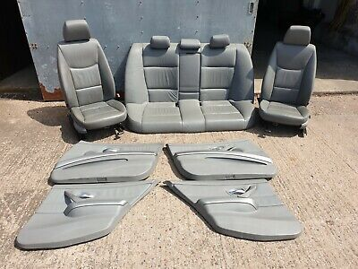 BMW E90 Leather Seats Interior Grey 2006 3 Series