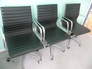 Quality Leather Office Director Chairs with Tilt and Lift. Eames Copy.
