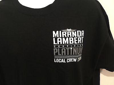 Miranda Lambert Certified Platinum Tour 2015 Local Crew Tshirt Size M New
