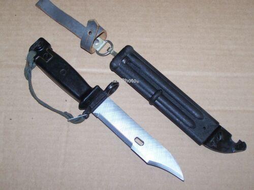 Knife Bayonet Sawtooth Blade Wirecutter Scabbard Military East German