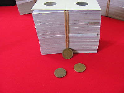 "100- Assorted Size- 2X2 ""COWENS"" -Cardboard/Mylar Coin Holders-"