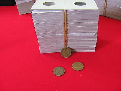"100- Assorted Size- 2X2 ""COWENS"" -Cardboard/Mylar Coin Holders-"