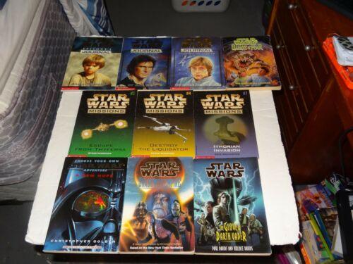 Star Wars Scholastic Paperback Books Lot of  10