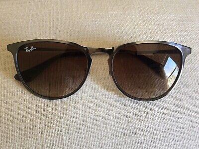 Ray-Ban Erika JR. Sunglasses - Gunmetal Frame Brown Gradient Lens - Brand (Ray Ban Girl Sunglasses)