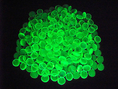 10 YELLOW VASELINE URANIUM GLASS LUCKY ROCK GEMS GLOWS          (( id147932))