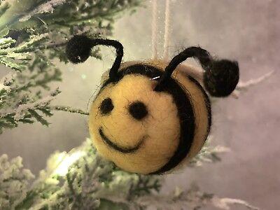 Wool Bumble Bee Christmas Tree Hanging Decoration Sass & Belle](Bumble Christmas Decoration)