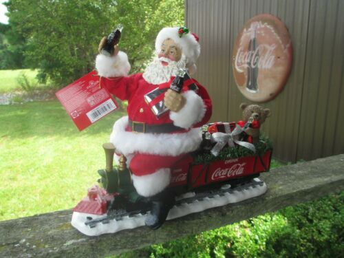 Coca-Cola Kurt Adler Fabriche Santa On Train 2017 LED Garland Holiday Christmas