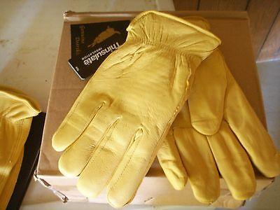 Luxury Lined Deerskin Gloves Winter Work Gloves Deer Leather