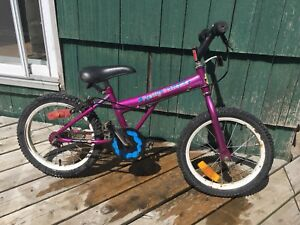 Girls aged roughly 5-7 bicycle