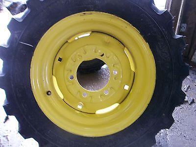 Two 258.50x14 Titan Kubota Robertcat Loader Skid Steer Rim Guard Tires Wwheels