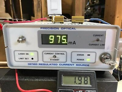 Precision Optical 32120 Laser Power Supply Current Source Lci-1020 Light Control