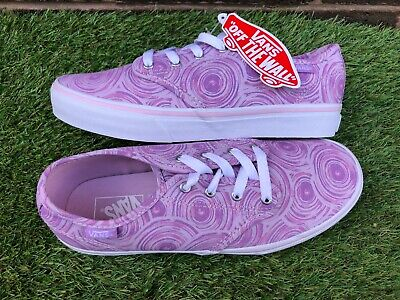 200 - Vans Off The Wall Trainers Size UK 4 junior girls BNWT purple swirls new