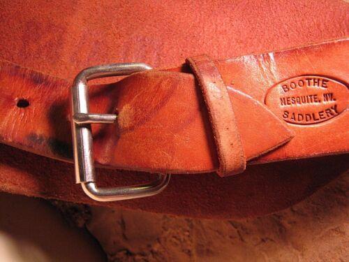 Hand Made Maker Marked Heavy LEATHER SADDLE Saddle BRONC KIDNEY BELT