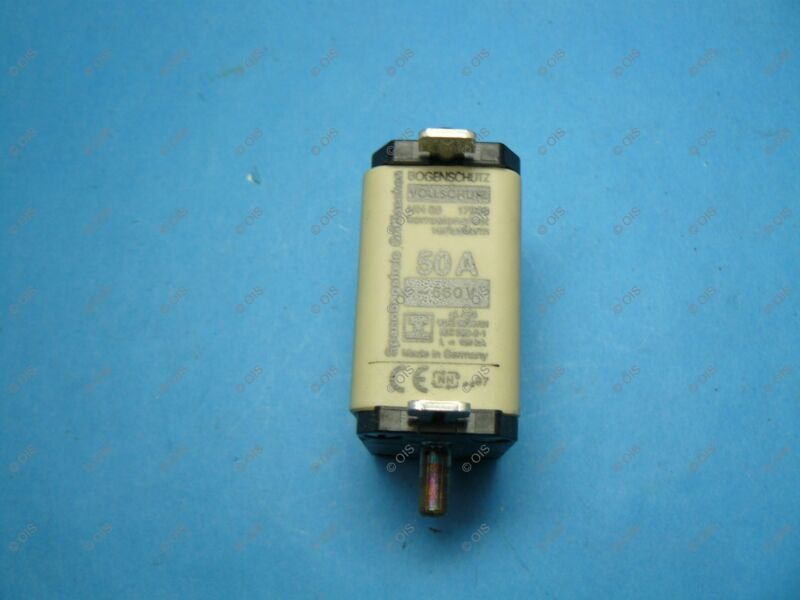 Lindner 17999.050765 NH-00 HRC Centered Tag Fuse Link 50 Amp C00 690V gL/gG