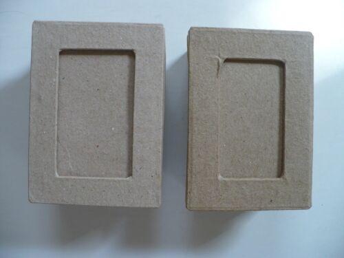 """Paper Mache 3 3/8""""  X 2 3/8""""  X  1 1/2"""" DIY Craft Decorate Box Window Top NWOT"""