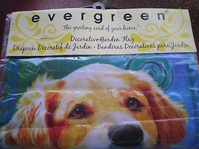 "Evergreen Decorative Garden Flag 18""× 12.5"" Outdoor Pet Dog"