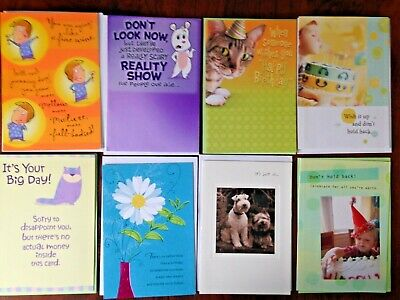 Company Birthday Cards (Assortment 8 FUNNY GENERAL BIRTHDAY Cards for FRIENDS FAMILY Co-Workers)