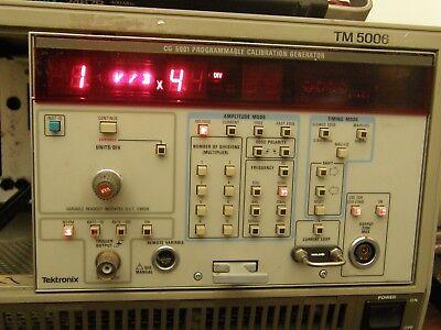 Tektronix Cg5001-01 Programmable Calibrator Generator Plug-in