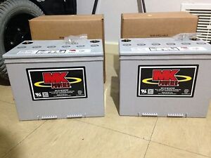 MK 70amp 12v Deep cycle batteries 1 Pair Osborne Park Stirling Area Preview