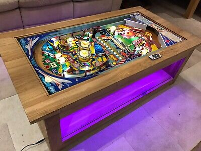 Pinball Machine Coffee Table Oak Table -  Zaccaria 'SuperSonic' 1977 PlayField