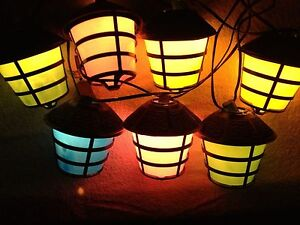retro blow mold tiki rv camper patio party lantern string lights