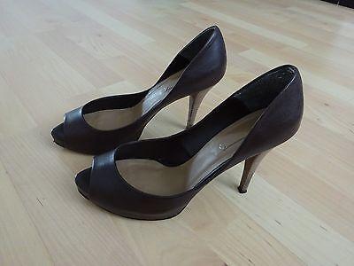 Schuhe Pumps Peeptoes Damenschuhe HighHeels Zara, braun Gr. 39