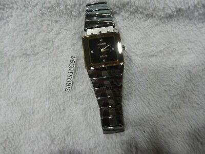 Rado DiaStar High Tech Ceramic Womans Swiss Quartz Watch 153.0334.3 MINI SINTRA