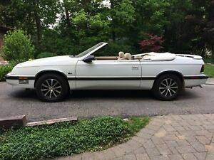 1990 White Chrysler LeBaron ESTATE SALE