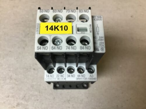 Siemens 3RH1131-1BB40 Contactor With Auxiliary Relay and 24 Volt DC Coil