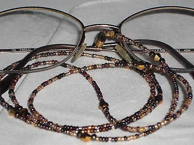 Tortoise Shell Mix -  Eyeglass Chain~Tortoise Shell~Wheatberry~Gold Mix~28