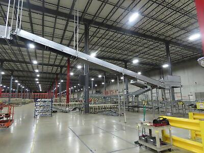 Automotion 30 X 44 Modular Incline Conveyor 24 Belt 460v 60fpm Center Drive
