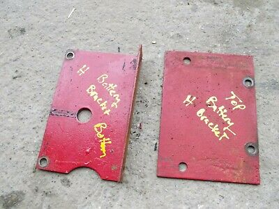 Farmall H Ih Tractor Original Battery Box Mounting Brackets Bracket Parts