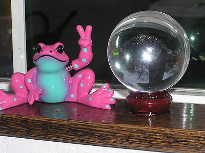 70mm  Wonderful  GAZING BALL  SPHERE & STAND  Crystal Healing Stone  Reiki