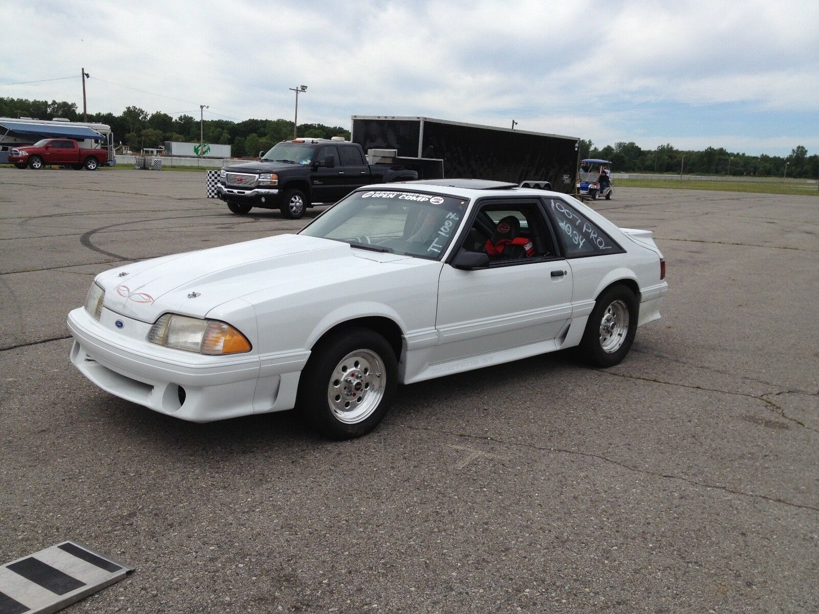 1988 Ford Mustang GT FORD MUSTANG GT DRAG RACE CAR AND 22' HAULMARK INCLOSED TRAILER COMBO
