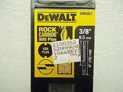 New Dewalt Dw5427 Rock Carbide Sds Plus 38 Drill Bit