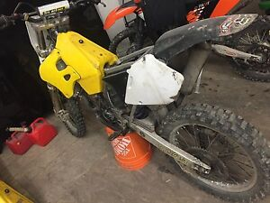 Two 1996 rm250 dirtbikes