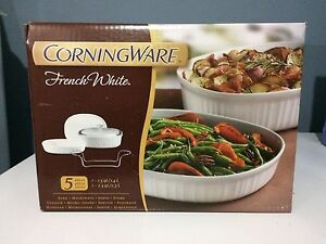 Corningware 5 piece set -French white