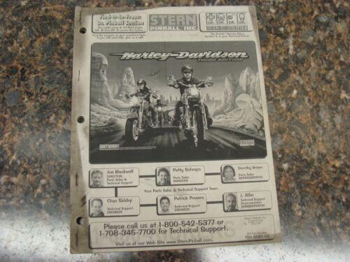 Harley Davidson 3rd Ed. Pinball Machine Service Manual, Atlanta (728)