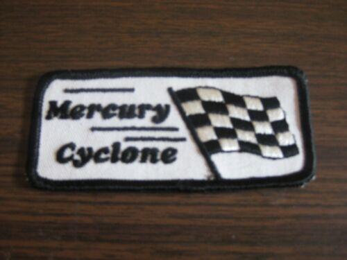 Vintage Mercury Cyclone Checkered Flag  Patch, Original