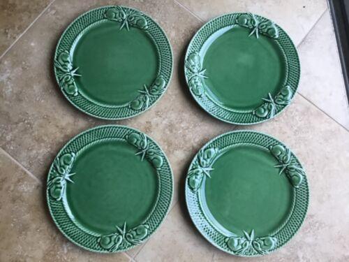 "4 Bordallo Pinheiro RABBIT GREEN PORTUGAL 10-1/4""  Bunny Dinner Easter Plates"