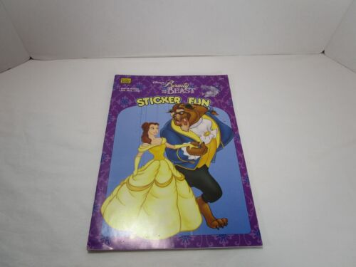 Walt Disney Beauty And The Beast Vintage 1994 Coloring Sticker Book New Uncut