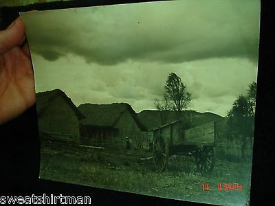 Big 8X10 1940s South America FARM HUT WAGON LIFE Life photo Colombia Venezuela