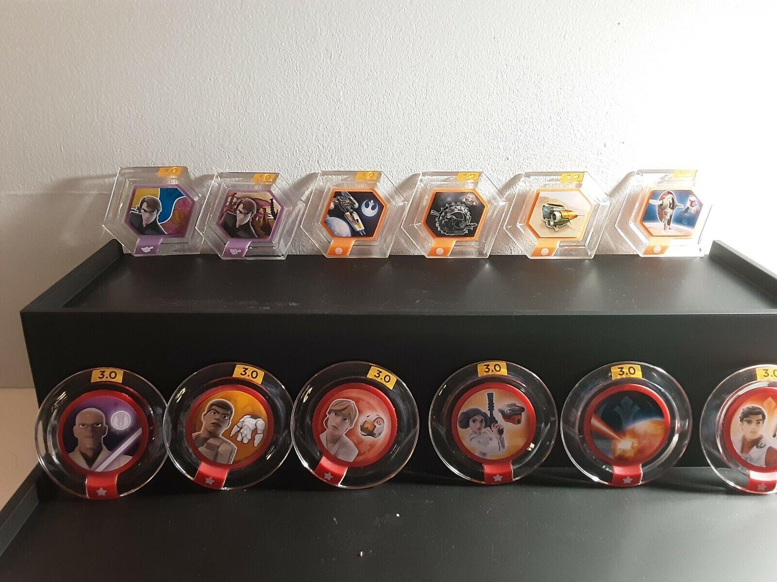 Lot Of 12 Disney Infinity Power Discs Star Wars - $20.00