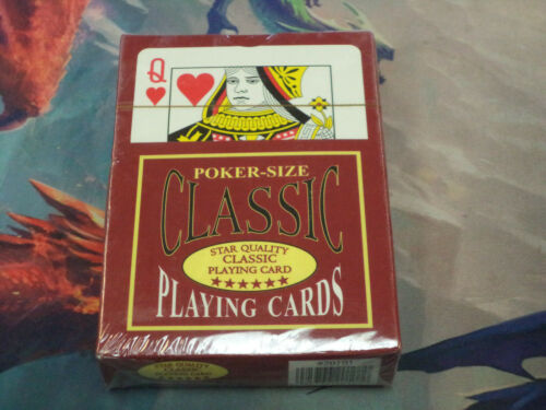 Classic Poker-Size Star Quality Plastic Playing Cards New!